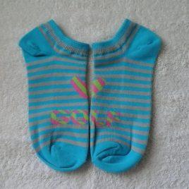 Golf Socks, Blue and Tan