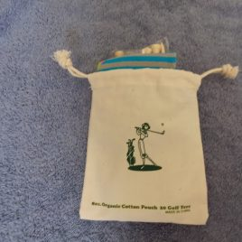 Golf Gifts Tee Bag, Tees, Blue Golf Socks, Free Shipping!